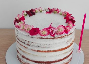 Naked Cake & Edible flowers