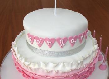 Ruffle pink cake