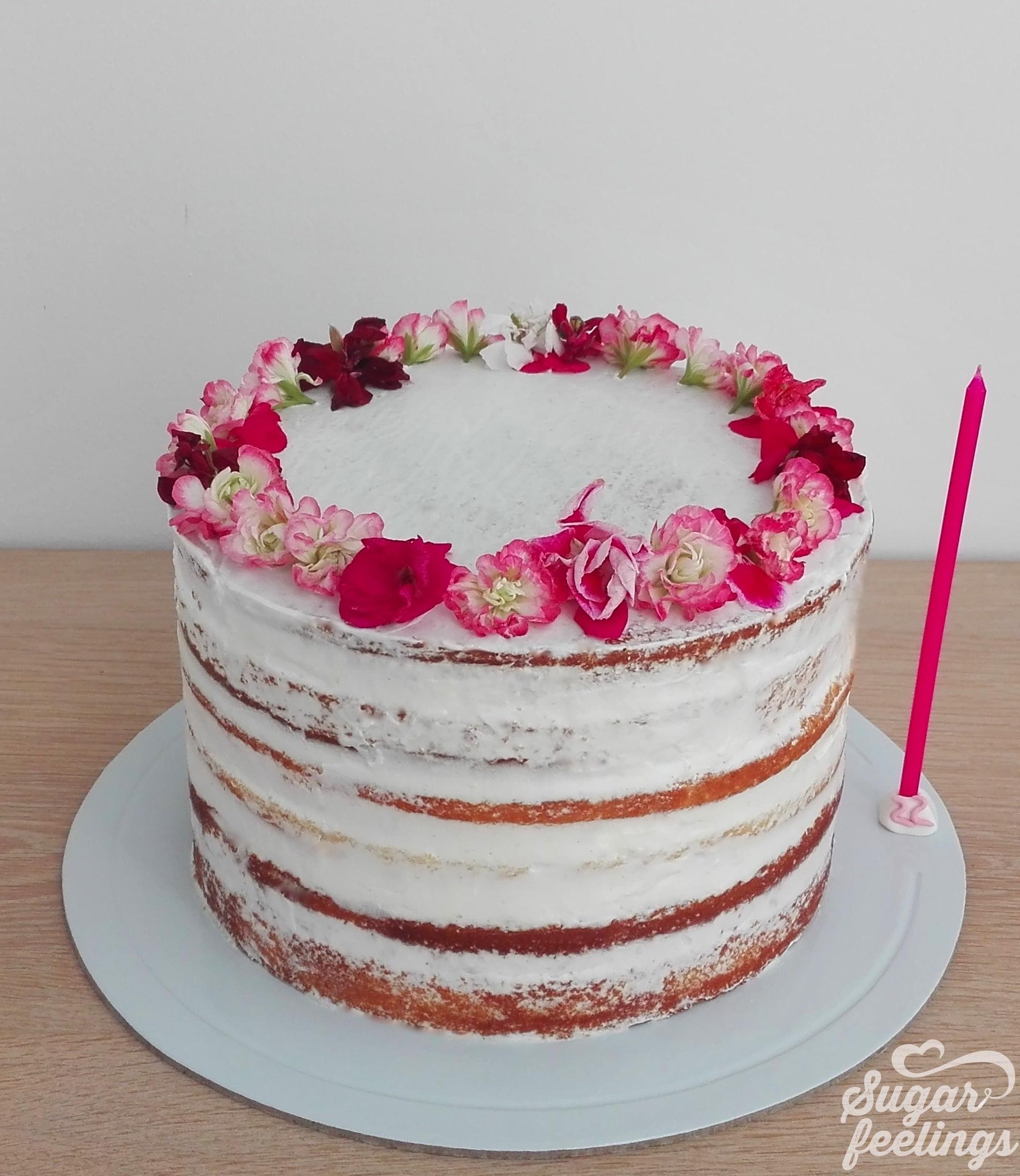 Naked Cake & Edible flowers